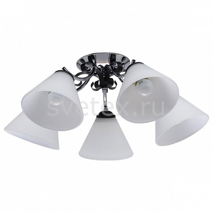 Потолочная люстра De MarktЛюстры<br>Артикул - MW_676012605,Бренд - De Markt (Германия),Коллекция - Нежность,Гарантия, месяцы - 24,Высота, мм - 220,Диаметр, мм - 560,Тип лампы - компактная люминесцентная [КЛЛ] ИЛИнакаливания ИЛИсветодиодная [LED],Общее кол-во ламп - 5,Напряжение питания лампы, В - 220,Максимальная мощность лампы, Вт - 60,Лампы в комплекте - отсутствуют,Цвет плафонов и подвесок - белый,Тип поверхности плафонов - матовый,Материал плафонов и подвесок - стекло,Цвет арматуры - хром, черный,Тип поверхности арматуры - глянцевый,Материал арматуры - сталь,Количество плафонов - 5,Возможность подлючения диммера - можно, если установить лампу накаливания,Тип цоколя лампы - E27,Класс электробезопасности - I,Общая мощность, Вт - 300,Степень пылевлагозащиты, IP - 20,Диапазон рабочих температур - комнатная температура,Дополнительные параметры - способ крепления светильника к потолку – на монтажной пластине<br>
