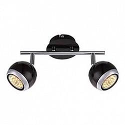 Спот GloboС 2 лампами<br>Артикул - GB_57884-2O,Бренд - Globo (Австрия),Коллекция - Oman,Гарантия, месяцы - 24,Размер упаковки, мм - 255x140x110,Тип лампы - галогеновая ИЛИсветодиодная [LED],Общее кол-во ламп - 2,Напряжение питания лампы, В - 220,Максимальная мощность лампы, Вт - 50,Лампы в комплекте - отсутствуют,Цвет плафонов и подвесок - черный с хромированной каймой,Тип поверхности плафонов - глянцевый, матовый,Материал плафонов и подвесок - металл,Цвет арматуры - хром, черный,Тип поверхности арматуры - глянцевый, матовый,Материал арматуры - металл,Возможность подлючения диммера - нельзя,Форма и тип колбы - полусферическая с рефлектором,Тип цоколя лампы - GU10,Класс электробезопасности - I,Степень пылевлагозащиты, IP - 20,Диапазон рабочих температур - комнатная температура,Дополнительные параметры - способ крепления светильника к потолку и стене - на монтажной пластине, поворотный светильник<br>