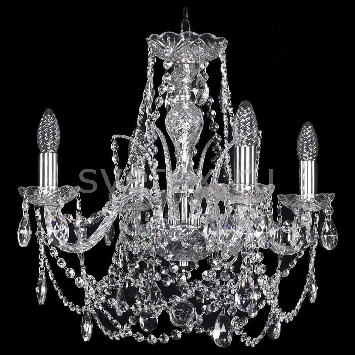 Подвесная люстра Bohemia Ivele Crystal5 или 6 ламп<br>Артикул - BI_1411_4_160_Ni,Бренд - Bohemia Ivele Crystal (Чехия),Коллекция - 1411,Гарантия, месяцы - 24,Высота, мм - 400,Диаметр, мм - 440,Размер упаковки, мм - 450x450x200,Тип лампы - компактная люминесцентная [КЛЛ] ИЛИнакаливания ИЛИсветодиодная [LED],Общее кол-во ламп - 6,Напряжение питания лампы, В - 220,Максимальная мощность лампы, Вт - 40,Лампы в комплекте - отсутствуют,Цвет плафонов и подвесок - неокрашенный,Тип поверхности плафонов - прозрачный,Материал плафонов и подвесок - хрусталь,Цвет арматуры - никель, неокрашенный,Тип поверхности арматуры - матовый, прозрачный,Материал арматуры - металл, стекло,Возможность подлючения диммера - можно, если установить лампу накаливания,Форма и тип колбы - свеча ИЛИ свеча на ветру,Тип цоколя лампы - E14,Класс электробезопасности - I,Общая мощность, Вт - 240,Степень пылевлагозащиты, IP - 20,Диапазон рабочих температур - комнатная температура,Дополнительные параметры - способ крепления светильника к потолку - на крюке, указана высота светильники без подвеса<br>