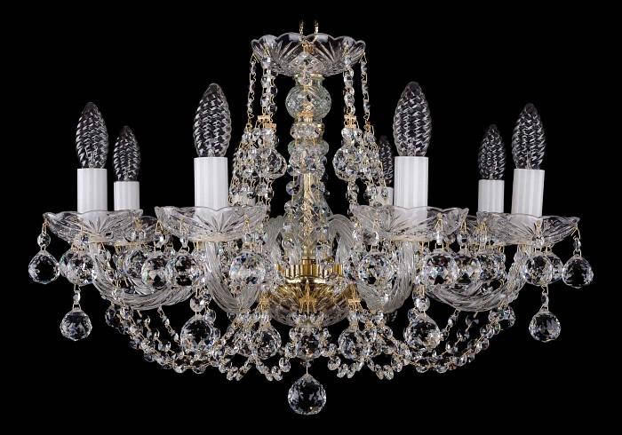 Фото Подвесная люстра Bohemia Ivele Crystal 1406 1406/8/195/G/Balls