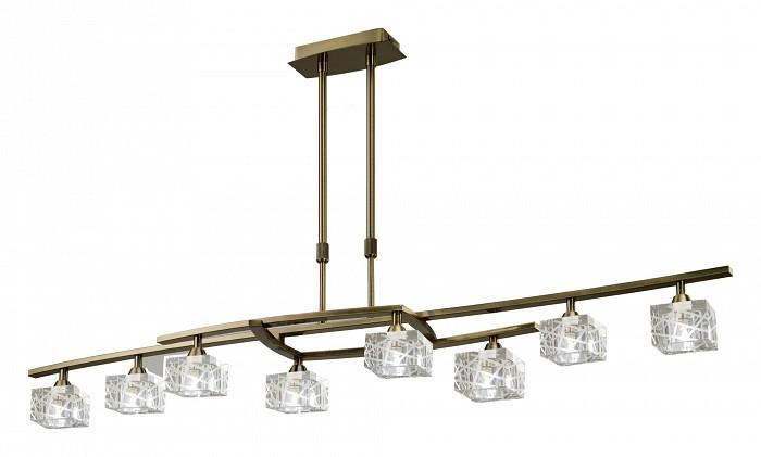 Люстра на штанге MantraЛюстры<br>Артикул - MN_1434,Бренд - Mantra (Испания),Коллекция - Zen Antique Brass,Гарантия, месяцы - 24,Время изготовления, дней - 1,Длина, мм - 1150,Ширина, мм - 250,Высота, мм - 450-700,Тип лампы - галогеновая,Общее кол-во ламп - 8,Напряжение питания лампы, В - 220,Максимальная мощность лампы, Вт - 40,Цвет лампы - белый теплый,Лампы в комплекте - галогеновые G9,Цвет плафонов и подвесок - неокрашенный,Тип поверхности плафонов - прозрачный, рельефный,Материал плафонов и подвесок - стекло,Цвет арматуры - латунь античная,Тип поверхности арматуры - глянцевый,Материал арматуры - дюралюминий, сталь,Количество плафонов - 8,Возможность подлючения диммера - можно,Форма и тип колбы - пальчиковая,Тип цоколя лампы - G9,Цветовая температура, K - 2800 - 3200 K,Экономичнее лампы накаливания - на 50%,Класс электробезопасности - I,Общая мощность, Вт - 320,Степень пылевлагозащиты, IP - 20,Диапазон рабочих температур - комнатная температура<br>