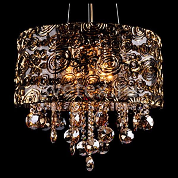 Фото Подвесной светильник Eurosvet 3400 3400/5 золото/тонированный хрусталь Strotskis