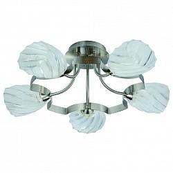 Потолочная люстра IDLamp5 или 6 ламп<br>Артикул - ID_601_5PF-MOONwhitechrome,Бренд - IDLamp (Италия),Коллекция - 601,Гарантия, месяцы - 24,Высота, мм - 280,Диаметр, мм - 590,Тип лампы - компактная люминесцентная [КЛЛ] ИЛИнакаливания ИЛИсветодиодная [LED],Общее кол-во ламп - 5,Напряжение питания лампы, В - 220,Максимальная мощность лампы, Вт - 60,Лампы в комплекте - отсутствуют,Цвет плафонов и подвесок - неокрашенный,Тип поверхности плафонов - прозрачный, рельефный,Материал плафонов и подвесок - стекло,Цвет арматуры - никель,Тип поверхности арматуры - глянцевый,Материал арматуры - металл,Возможность подлючения диммера - можно, если установить лампу накаливания,Тип цоколя лампы - E14,Класс электробезопасности - I,Общая мощность, Вт - 300,Степень пылевлагозащиты, IP - 20,Диапазон рабочих температур - комнатная температура,Дополнительные параметры - способ крепления светильника к потолку — на монтажной пластине<br>