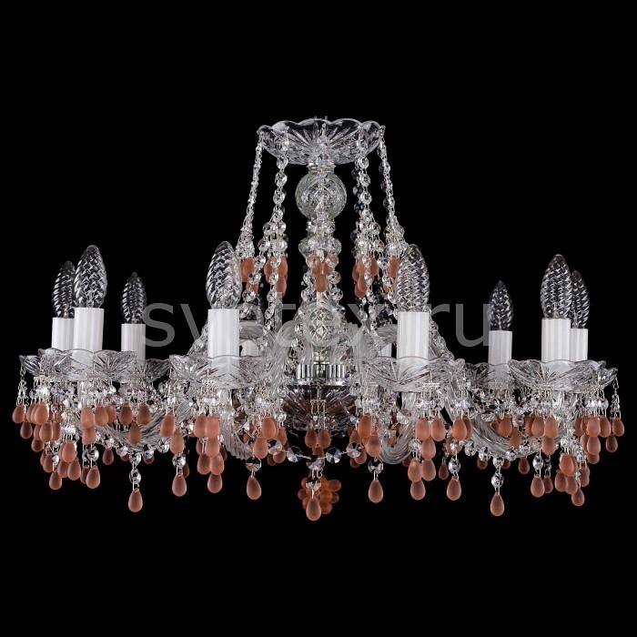 Фото Подвесная люстра Bohemia Ivele Crystal 1410 1410/10/240/Ni/7010