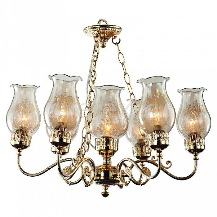 Подвесная люстра ST-LuceЛюстры<br>Артикул - SL121.203.07,Бренд - ST-Luce (Китай),Коллекция - SL121,Гарантия, месяцы - 24,Высота, мм - 680-1000,Диаметр, мм - 640,Размер упаковки, мм - 640x580x270,Тип лампы - компактная люминесцентная [КЛЛ] ИЛИнакаливания ИЛИсветодиодная [LED],Общее кол-во ламп - 7,Напряжение питания лампы, В - 220,Максимальная мощность лампы, Вт - 60,Лампы в комплекте - отсутствуют,Цвет плафонов и подвесок - неокрашенный с рисунком,Тип поверхности плафонов - прозрачный,Материал плафонов и подвесок - стекло,Цвет арматуры - золото,Тип поверхности арматуры - глянцевый,Материал арматуры - металл,Количество плафонов - 7,Возможность подлючения диммера - можно, если установить лампу накаливания,Тип цоколя лампы - E14,Класс электробезопасности - I,Общая мощность, Вт - 420,Степень пылевлагозащиты, IP - 20,Диапазон рабочих температур - комнатная температура,Дополнительные параметры - способ крепления светильника к потолку - на крюке, регулируется по высоте<br>