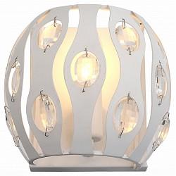 Накладной светильник ST-LuceСветодиодные<br>Артикул - SL793.501.01,Бренд - ST-Luce (Китай),Коллекция - Calma,Гарантия, месяцы - 24,Высота, мм - 152,Тип лампы - компактная люминесцентная [КЛЛ] ИЛИнакаливания ИЛИсветодиодная [LED],Общее кол-во ламп - 1,Напряжение питания лампы, В - 220,Максимальная мощность лампы, Вт - 40,Лампы в комплекте - отсутствуют,Цвет плафонов и подвесок - белый, неокрашенный,Тип поверхности плафонов - матовый, прозрачный,Материал плафонов и подвесок - металл, хрусталь,Цвет арматуры - белый,Тип поверхности арматуры - матовый,Материал арматуры - металл,Возможность подлючения диммера - можно, если установить лампу накаливания,Тип цоколя лампы - E14,Класс электробезопасности - I,Степень пылевлагозащиты, IP - 20,Диапазон рабочих температур - комнатная температура,Дополнительные параметры - светильник предназначен для использования со скрытой проводкой<br>