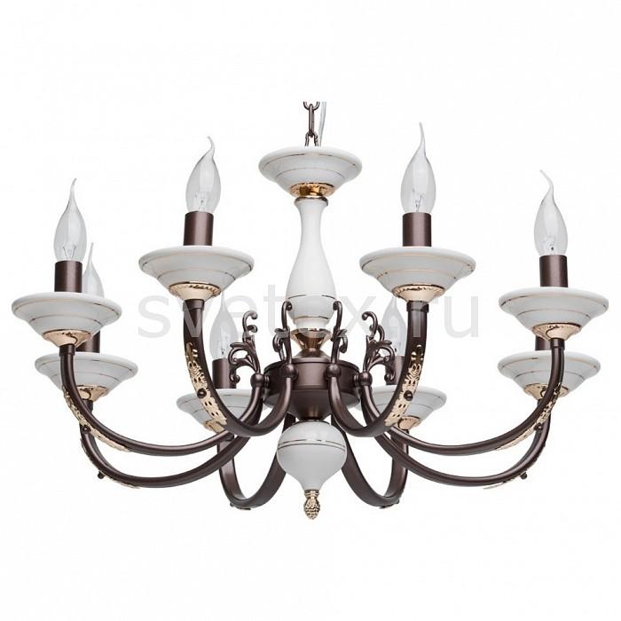 Подвесная люстра MW-LightЛюстры<br>Артикул - MW_381011608,Бренд - MW-Light (Германия),Коллекция - Нимфа 4,Гарантия, месяцы - 24,Высота, мм - 880-1130,Диаметр, мм - 640,Размер упаковки, мм - 410x460x160,Тип лампы - компактная люминесцентная [КЛЛ] ИЛИнакаливания ИЛИсветодиодная [LED],Общее кол-во ламп - 8,Напряжение питания лампы, В - 220,Максимальная мощность лампы, Вт - 60,Лампы в комплекте - отсутствуют,Цвет арматуры - белый, золото, коричневый,Тип поверхности арматуры - матовый,Материал арматуры - керамика, металл,Возможность подлючения диммера - можно, если установить лампу накаливания,Форма и тип колбы - свеча ИЛИ свеча на ветру,Тип цоколя лампы - E14,Класс электробезопасности - I,Общая мощность, Вт - 480,Степень пылевлагозащиты, IP - 20,Диапазон рабочих температур - комнатная температура,Дополнительные параметры - способ крепления светильника к потолоку – на крюке, регулируется по высоте<br>