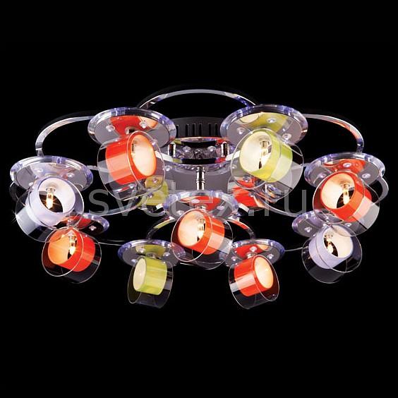 Потолочная люстра EurosvetМеталлические плафоны<br>Артикул - EV_6977,Бренд - Eurosvet (Китай),Коллекция - 4933,Гарантия, месяцы - 24,Время изготовления, дней - 1,Высота, мм - 200,Диаметр, мм - 600,Тип лампы - галогеновая,Общее кол-во ламп - 9,Напряжение питания лампы, В - 12,Максимальная мощность лампы, Вт - 20,Цвет лампы - белый теплый,Лампы в комплекте - галогеновые G4,Цвет плафонов и подвесок - разноцветный,Тип поверхности плафонов - прозрачный,Материал плафонов и подвесок - металл, полимер,Цвет арматуры - хром,Тип поверхности арматуры - глянцевый,Материал арматуры - металл,Количество плафонов - 9,Наличие выключателя, диммера или пульта ДУ - пульт ДУ,Возможность подлючения диммера - нельзя,Компоненты, входящие в комплект - трансформатор 12В,Форма и тип колбы - пальчиковая,Тип цоколя лампы - G4,Цветовая температура, K - 2800 - 3200 K,Напряжение питания, В - 220,Общая мощность, Вт - 180,Степень пылевлагозащиты, IP - 20,Диапазон рабочих температур - комнатная температура,Дополнительные параметры - светильник декорирован60 RGB светодиодами общей мощностью 7.8 Вт<br>