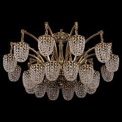 Подвесная люстра Bohemia Ivele CrystalБолее 6 ламп<br>Артикул - BI_1772_24_342_GB,Бренд - Bohemia Ivele Crystal (Чехия),Коллекция - 1772,Гарантия, месяцы - 24,Высота, мм - 520,Диаметр, мм - 1040,Размер упаковки, мм - 710x710x350,Тип лампы - компактная люминесцентная [КЛЛ] ИЛИнакаливания ИЛИсветодиодная [LED],Общее кол-во ламп - 24,Напряжение питания лампы, В - 220,Максимальная мощность лампы, Вт - 40,Лампы в комплекте - отсутствуют,Цвет плафонов и подвесок - неокрашенный,Тип поверхности плафонов - прозрачный,Материал плафонов и подвесок - хрусталь,Цвет арматуры - золото черненое,Тип поверхности арматуры - глянцевый, рельефный,Материал арматуры - латунь,Возможность подлючения диммера - можно, если установить лампу накаливания,Тип цоколя лампы - E14,Класс электробезопасности - I,Общая мощность, Вт - 960,Степень пылевлагозащиты, IP - 20,Диапазон рабочих температур - комнатная температура,Дополнительные параметры - способ крепления светильника к потолку - на крюке, указана высота светильника без подвеса<br>