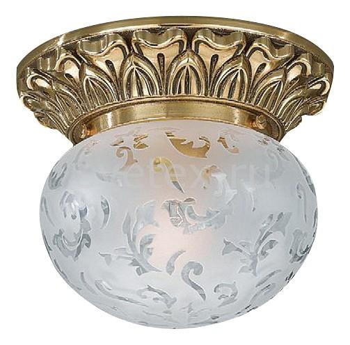 Накладной светильник Reccagni AngeloКруглые<br>Артикул - RA_PL_7811_1,Бренд - Reccagni Angelo (Италия),Коллекция - 7810,Гарантия, месяцы - 24,Выступ, мм - 140,Диаметр, мм - 160,Тип лампы - компактная люминесцентная [КЛЛ] ИЛИнакаливания ИЛИсветодиодная [LED],Общее кол-во ламп - 1,Напряжение питания лампы, В - 220,Максимальная мощность лампы, Вт - 60,Лампы в комплекте - отсутствуют,Цвет плафонов и подвесок - белый с рисунком,Тип поверхности плафонов - матовый,Материал плафонов и подвесок - стекло,Цвет арматуры - золото французское,Тип поверхности арматуры - глянцевый, рельефный,Материал арматуры - латунь,Количество плафонов - 1,Возможность подлючения диммера - можно, если установить лампу накаливания,Тип цоколя лампы - E27,Класс электробезопасности - I,Степень пылевлагозащиты, IP - 20,Диапазон рабочих температур - комнатная температура,Дополнительные параметры - способ крепления к потолку - на монтажной пластине<br>