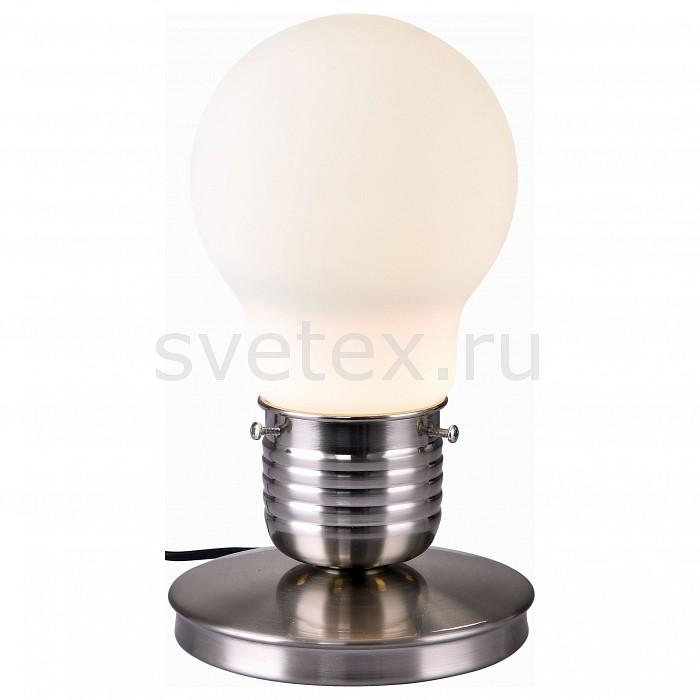 Настольная лампа ST-LuceСтеклянный плафон<br>Артикул - SL299.554.01,Бренд - ST-Luce (Китай),Коллекция - Buld,Гарантия, месяцы - 24,Высота, мм - 300,Диаметр, мм - 150,Размер упаковки, мм - 250x250x430,Тип лампы - компактная люминесцентная [КЛЛ] ИЛИнакаливания ИЛИсветодиодная [LED],Общее кол-во ламп - 1,Напряжение питания лампы, В - 220,Максимальная мощность лампы, Вт - 60,Лампы в комплекте - отсутствуют,Цвет плафонов и подвесок - белый,Тип поверхности плафонов - матовый,Материал плафонов и подвесок - стекло,Цвет арматуры - никель,Тип поверхности арматуры - сатин,Материал арматуры - металл,Количество плафонов - 1,Наличие выключателя, диммера или пульта ДУ - выключатель на проводе,Компоненты, входящие в комплект - провод электропитания с вилкой без заземления,Тип цоколя лампы - E27,Класс электробезопасности - II,Степень пылевлагозащиты, IP - 20,Диапазон рабочих температур - комнатная температура<br>