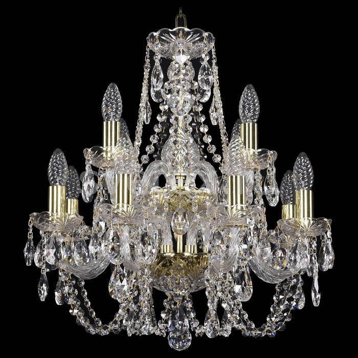 Подвесная люстра Bohemia Ivele CrystalБолее 6 ламп<br>Артикул - BI_1406_8_4_160-55_2d_G,Бренд - Bohemia Ivele Crystal (Чехия),Коллекция - 1406,Гарантия, месяцы - 24,Высота, мм - 400,Диаметр, мм - 480,Размер упаковки, мм - 710x710x350,Тип лампы - компактная люминесцентная [КЛЛ] ИЛИнакаливания ИЛИсветодиодная [LED],Общее кол-во ламп - 12,Напряжение питания лампы, В - 220,Максимальная мощность лампы, Вт - 40,Лампы в комплекте - отсутствуют,Цвет плафонов и подвесок - неокрашенный,Тип поверхности плафонов - прозрачный,Материал плафонов и подвесок - хрусталь,Цвет арматуры - золото, неокрашенный,Тип поверхности арматуры - глянцевый, прозрачный,Материал арматуры - металл, стекло,Возможность подлючения диммера - можно, если установить лампу накаливания,Форма и тип колбы - свеча ИЛИ свеча на ветру,Тип цоколя лампы - E14,Класс электробезопасности - I,Общая мощность, Вт - 480,Степень пылевлагозащиты, IP - 20,Диапазон рабочих температур - комнатная температура,Дополнительные параметры - способ крепления светильника к потолку - на крюке, указана высота светильники без подвеса<br>