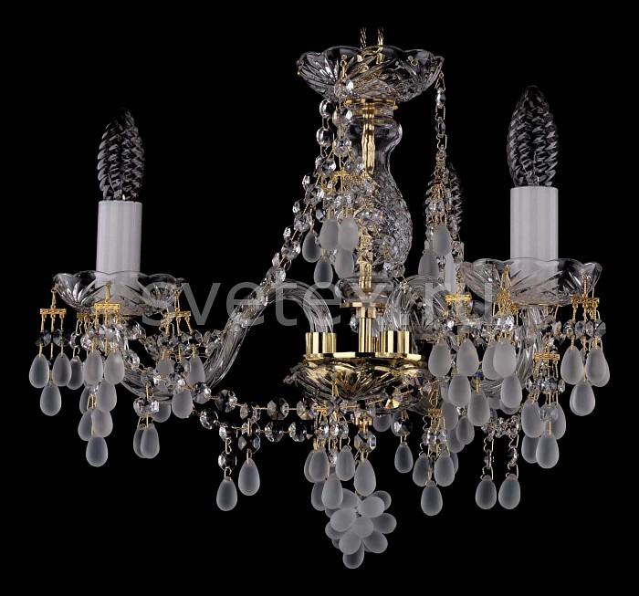 Фото Подвесная люстра Bohemia Ivele Crystal 1410 1410/3/141/G/0300