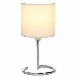Настольная лампа GloboС абажуром<br>Артикул - GB_24639B,Бренд - Globo (Австрия),Коллекция - Elfi,Гарантия, месяцы - 24,Высота, мм - 250,Диаметр, мм - 120,Размер упаковки, мм - 125х125х180,Тип лампы - компактная люминесцентная [КЛЛ] ИЛИнакаливания ИЛИсветодиодная [LED],Общее кол-во ламп - 1,Напряжение питания лампы, В - 220,Максимальная мощность лампы, Вт - 40,Лампы в комплекте - отсутствуют,Цвет плафонов и подвесок - бежевый,Тип поверхности плафонов - матовый,Материал плафонов и подвесок - текстиль,Цвет арматуры - хром,Тип поверхности арматуры - глянцевый, металлик,Материал арматуры - металл,Тип цоколя лампы - E14,Класс электробезопасности - II,Степень пылевлагозащиты, IP - 20,Диапазон рабочих температур - комнатная температура<br>