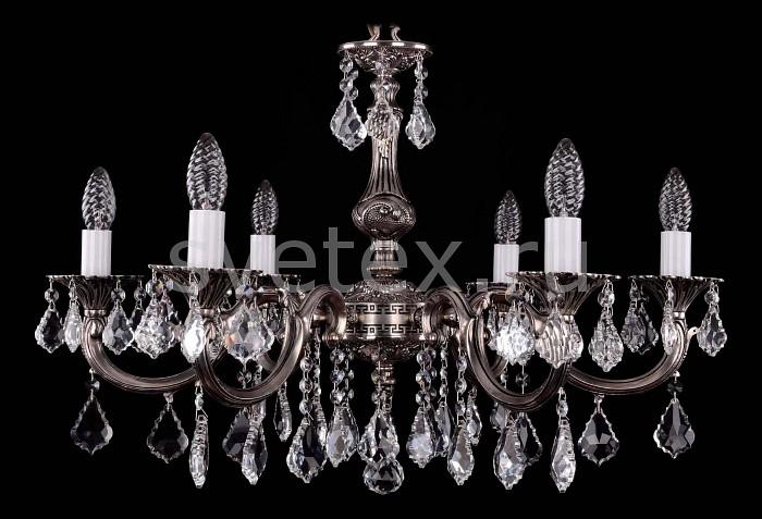 Фото Подвесная люстра Bohemia Ivele Crystal 1702 1702/6/A/NB/Leafs