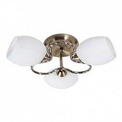 Потолочная люстра MobitluxНе более 4 ламп<br>Артикул - MB_601.02,Бренд - Mobitlux (Австрия),Коллекция - MB-601,Гарантия, месяцы - 24,Высота, мм - 130,Диаметр, мм - 450,Тип лампы - компактная люминесцентная [КЛЛ] ИЛИнакаливания ИЛИсветодиодная [LED],Общее кол-во ламп - 3,Напряжение питания лампы, В - 220,Максимальная мощность лампы, Вт - 60,Лампы в комплекте - отсутствуют,Цвет плафонов и подвесок - белый с каймой,Тип поверхности плафонов - матовый,Материал плафонов и подвесок - стекло,Цвет арматуры - античная латунь,Тип поверхности арматуры - глянцевый,Материал арматуры - металл,Возможность подлючения диммера - можно, если установить лампу накаливания,Тип цоколя лампы - E14,Класс электробезопасности - I,Общая мощность, Вт - 180,Степень пылевлагозащиты, IP - 20,Диапазон рабочих температур - комнатная температура<br>