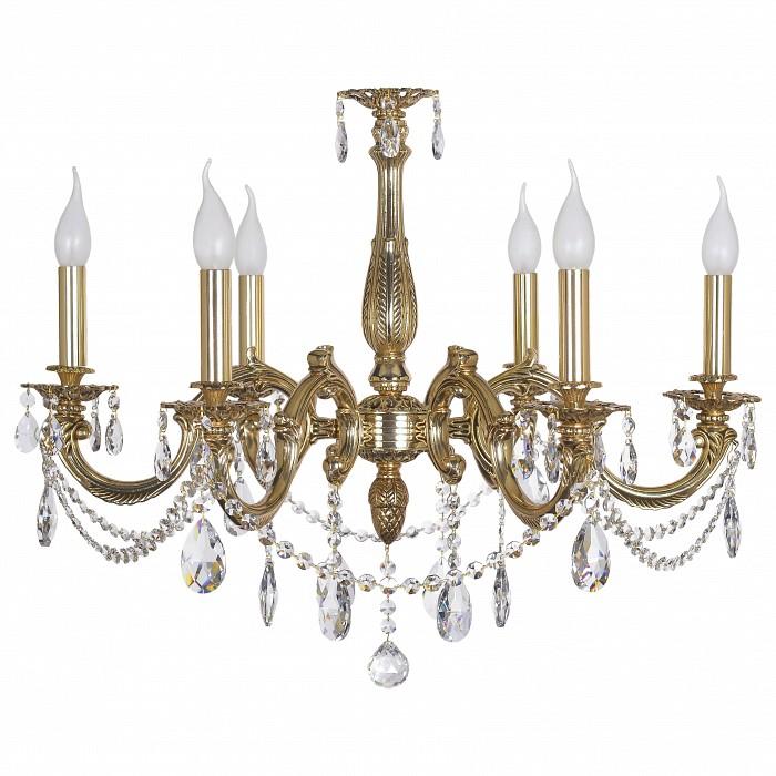Подвесная люстра Dio D'Arte5 или 6 ламп<br>Артикул - DDA_Treviso_E_1.1.6.600_COG,Бренд - Dio D'Arte (Италия),Коллекция - Treviso,Гарантия, месяцы - 24,Высота, мм - 600,Диаметр, мм - 700,Тип лампы - компактная люминесцентная [КЛЛ] ИЛИнакаливания ИЛИсветодиодная  [LED],Общее кол-во ламп - 6,Напряжение питания лампы, В - 220,Максимальная мощность лампы, Вт - 40,Лампы в комплекте - отсутствуют,Цвет плафонов и подвесок - неокрашенный,Тип поверхности плафонов - прозрачный,Материал плафонов и подвесок - хрусталь Elite,Цвет арматуры - золото,Тип поверхности арматуры - глянцевый,Материал арматуры - металл,Возможность подлючения диммера - можно, если установить лампу накаливания,Форма и тип колбы - свеча ИЛИ свеча на ветру,Тип цоколя лампы - E14,Класс электробезопасности - I,Общая мощность, Вт - 240,Степень пылевлагозащиты, IP - 20,Диапазон рабочих температур - комнатная температура,Дополнительные параметры - способ крепления светильника к потолку - на крюке, указана высота светильника без подвеса<br>