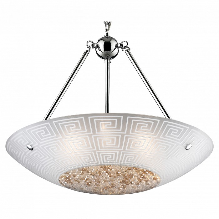 Подвесной светильник Odeon LightПодвесные светильники<br>Артикул - OD_2609_6,Бренд - Odeon Light (Италия),Коллекция - Ostia 1,Гарантия, месяцы - 24,Время изготовления, дней - 1,Высота, мм - 1660,Диаметр, мм - 500,Тип лампы - галогеновая,Общее кол-во ламп - 6,Напряжение питания лампы, В - 220,Максимальная мощность лампы, Вт - 40,Цвет лампы - белый теплый,Лампы в комплекте - галогеновые G9,Цвет плафонов и подвесок - коричневый, неокрашенный с орнаментом, неокрашенный,Тип поверхности плафонов - матовый,Материал плафонов и подвесок - стекло, хрусталь,Цвет арматуры - хром,Тип поверхности арматуры - глянцевый,Материал арматуры - металл,Количество плафонов - 1,Возможность подлючения диммера - можно,Форма и тип колбы - пальчиковая,Тип цоколя лампы - G9,Цветовая температура, K - 2800 - 3200 K,Экономичнее лампы накаливания - на 50 %,Класс электробезопасности - I,Общая мощность, Вт - 240,Степень пылевлагозащиты, IP - 20,Диапазон рабочих температур - комнатная температура<br>