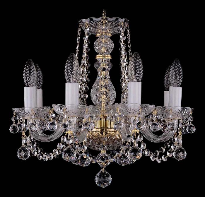 Фото Подвесная люстра Bohemia Ivele Crystal 1402 1402/8/141/G/Balls