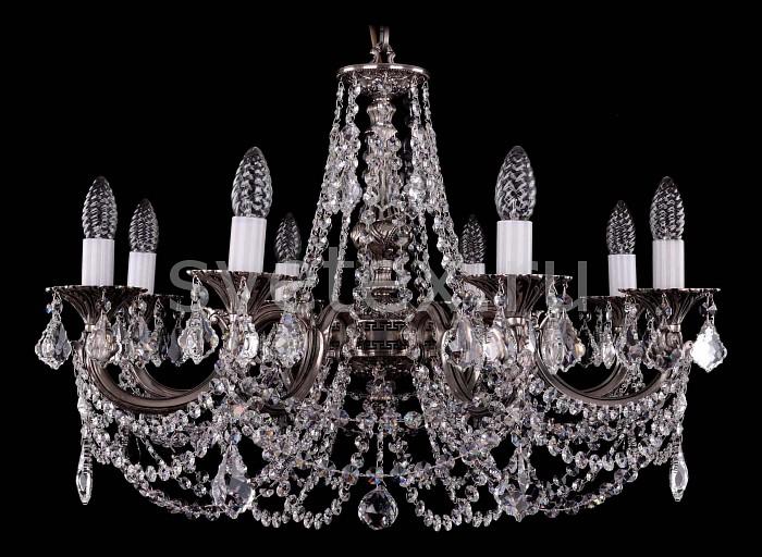 Фото Подвесная люстра Bohemia Ivele Crystal 1702 1702/8/C/NB/Leafs