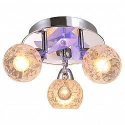 Накладной светильник IDLampСветодиодные<br>Артикул - ID_200_3PF-Chrome,Бренд - IDLamp (Италия),Коллекция - 200,Высота, мм - 200,Диаметр, мм - 400,Тип лампы - компактная люминесцентная [КЛЛ] ИЛИнакаливания ИЛИсветодиодная [LED],Общее кол-во ламп - 3,Напряжение питания лампы, В - 220,Максимальная мощность лампы, Вт - 60,Лампы в комплекте - отсутствуют,Цвет плафонов и подвесок - белый с рисунком, неокрашенный,Тип поверхности плафонов - матовый, прозрачный,Материал плафонов и подвесок - стекло,Цвет арматуры - хром,Тип поверхности арматуры - глянцевый,Материал арматуры - металл,Тип цоколя лампы - E14,Класс электробезопасности - I,Общая мощность, Вт - 180,Степень пылевлагозащиты, IP - 20,Диапазон рабочих температур - комнатная температура,Дополнительные параметры - поворотный светильник декорирован RGB светодиодами, способ крепления светильника к потолку – на монтажной пластине<br>