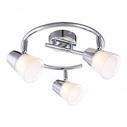 Спот GloboС 3 лампами<br>Артикул - GB_56185-3,Бренд - Globo (Австрия),Коллекция - Teika,Гарантия, месяцы - 24,Диаметр, мм - 250,Тип лампы - светодиодная [LED],Общее кол-во ламп - 3,Напряжение питания лампы, В - 20,Максимальная мощность лампы, Вт - 3,Лампы в комплекте - светодиодные [LED],Цвет плафонов и подвесок - белый, неокрашенный,Тип поверхности плафонов - матовый, прозрачный,Материал плафонов и подвесок - полимер,Цвет арматуры - хром,Тип поверхности арматуры - глянцевый,Материал арматуры - металл,Возможность подлючения диммера - нельзя,Класс электробезопасности - I,Общая мощность, Вт - 9,Степень пылевлагозащиты, IP - 20,Диапазон рабочих температур - комнатная температура,Дополнительные параметры - поворотный светильник<br>