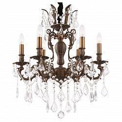 Подвесная люстра Globo5 или 6 ламп<br>Артикул - GB_64115-6,Бренд - Globo (Австрия),Коллекция - Crown,Гарантия, месяцы - 24,Высота, мм - 1200,Диаметр, мм - 570,Размер упаковки, мм - 610x610x420,Тип лампы - компактная люминесцентная [КЛЛ] ИЛИнакаливания ИЛИсветодиодная [LED],Общее кол-во ламп - 6,Напряжение питания лампы, В - 220,Максимальная мощность лампы, Вт - 40,Лампы в комплекте - отсутствуют,Цвет плафонов и подвесок - неокрашенный,Тип поверхности плафонов - прозрачный,Материал плафонов и подвесок - хрусталь K9,Цвет арматуры - коричневый,Тип поверхности арматуры - матовый,Материал арматуры - металл,Возможность подлючения диммера - можно, если установить лампу накаливания,Форма и тип колбы - свеча ИЛИ свеча на ветру,Тип цоколя лампы - E14,Класс электробезопасности - I,Общая мощность, Вт - 240,Степень пылевлагозащиты, IP - 20,Диапазон рабочих температур - комнатная температура,Дополнительные параметры - способ крепления светильника к потолку - на крюке<br>