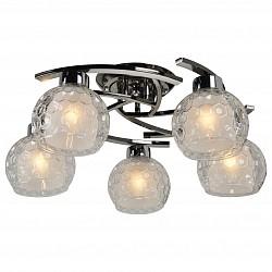 Потолочная люстра IDLamp5 или 6 ламп<br>Артикул - ID_875_5PF-Darkchrome,Бренд - IDLamp (Италия),Коллекция - 875,Гарантия, месяцы - 24,Высота, мм - 230,Диаметр, мм - 570,Тип лампы - компактная люминесцентная [КЛЛ] ИЛИнакаливания ИЛИсветодиодная [LED],Общее кол-во ламп - 5,Напряжение питания лампы, В - 220,Максимальная мощность лампы, Вт - 60,Лампы в комплекте - отсутствуют,Цвет плафонов и подвесок - белый, неокрашенный,Тип поверхности плафонов - матовый, прозрачный, рельефный,Материал плафонов и подвесок - стекло,Цвет арматуры - хром черненный,Тип поверхности арматуры - глянцевый,Материал арматуры - металл,Возможность подлючения диммера - можно, если установить лампу накаливания,Тип цоколя лампы - E27,Общая мощность, Вт - 300,Степень пылевлагозащиты, IP - 20,Диапазон рабочих температур - комнатная температура<br>