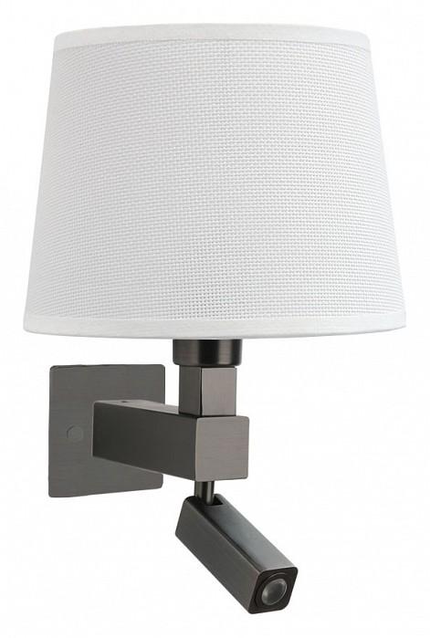 Бра с подсветкой MantraСветодиодные<br>Артикул - MN_5233_5237_5171,Бренд - Mantra (Испания),Коллекция - Bahia,Гарантия, месяцы - 24,Ширина, мм - 200,Высота, мм - 334,Выступ, мм - 215,Тип лампы - компактная люминесцентная [КЛЛ], светодиодная [LED] ИЛИсветодиодные [LED],Общее кол-во ламп - 2,Напряжение питания лампы, В - 220,Максимальная мощность лампы, Вт - 3, 13,Цвет лампы - белый теплый,Лампы в комплекте - светодиодная [LED],Цвет плафонов и подвесок - белый,Тип поверхности плафонов - матовый,Материал плафонов и подвесок - текстиль,Цвет арматуры - бронза,Тип поверхности арматуры - матовый,Материал арматуры - металл,Количество плафонов - 1,Наличие выключателя, диммера или пульта ДУ - выключатель,Тип цоколя лампы - E27,Цветовая температура, K - 3000 K,Световой поток, лм - 200,Экономичнее лампы накаливания - в 8.3 раза,Светоотдача, лм/Вт - 67,Класс электробезопасности - I,Общая мощность, Вт - 16,Степень пылевлагозащиты, IP - 20,Диапазон рабочих температур - комнатная температура,Дополнительные параметры - способ крепления светильника на стене – на монтажной пластине, светильник предназначен для использования со скрытой проводкой, поворотный светильник, размер основания 100x100 мм<br>