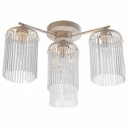 Потолочная люстра TopLightНе более 4 ламп<br>Артикул - TPL_TL7170X-04WG,Бренд - TopLight (Россия),Коллекция - Ursula,Гарантия, месяцы - 24,Высота, мм - 270,Диаметр, мм - 500,Тип лампы - компактная люминесцентная [КЛЛ] ИЛИнакаливания ИЛИсветодиодная [LED],Общее кол-во ламп - 4,Напряжение питания лампы, В - 220,Максимальная мощность лампы, Вт - 40,Лампы в комплекте - отсутствуют,Цвет плафонов и подвесок - неокрашенный,Тип поверхности плафонов - прозрачный,Материал плафонов и подвесок - стекло,Цвет арматуры - белый с золотой патиной,Тип поверхности арматуры - матовый,Материал арматуры - металл,Возможность подлючения диммера - можно, если установить лампу накаливания,Тип цоколя лампы - E14,Класс электробезопасности - I,Общая мощность, Вт - 160,Степень пылевлагозащиты, IP - 20,Диапазон рабочих температур - комнатная температура,Дополнительные параметры - способ крепления светильника к потолку - на монтажной пластине<br>