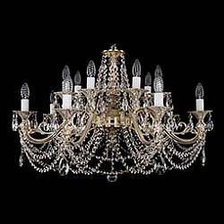 Подвесная люстра Bohemia Ivele CrystalБолее 6 ламп<br>Артикул - BI_1703_14_C_GW,Бренд - Bohemia Ivele Crystal (Чехия),Коллекция - 1703,Гарантия, месяцы - 12,Высота, мм - 550,Диаметр, мм - 850,Размер упаковки, мм - 710x710x240,Тип лампы - компактная люминесцентная [КЛЛ] ИЛИнакаливания ИЛИсветодиодная [LED],Общее кол-во ламп - 14,Напряжение питания лампы, В - 220,Максимальная мощность лампы, Вт - 40,Лампы в комплекте - отсутствуют,Цвет плафонов и подвесок - неокрашенный,Тип поверхности плафонов - прозрачный,Материал плафонов и подвесок - хрусталь,Цвет арматуры - золото беленое,Тип поверхности арматуры - глянцевый, рельефный,Материал арматуры - металл,Возможность подлючения диммера - можно, если установить лампу накаливания,Форма и тип колбы - свеча ИЛИ свеча на ветру,Тип цоколя лампы - E14,Класс электробезопасности - I,Общая мощность, Вт - 560,Степень пылевлагозащиты, IP - 20,Диапазон рабочих температур - комнатная температура,Дополнительные параметры - способ крепления светильника к потолку – на крюке<br>