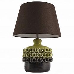 Настольная лампа декоративная ST-LuceС абажуром<br>Артикул - SL995.304.01,Бренд - ST-Luce (Китай),Коллекция - Tabella,Гарантия, месяцы - 24,Высота, мм - 300,Диаметр, мм - 430,Размер упаковки, мм - 640х430х380; 310х310х320,Тип лампы - компактная люминесцентная [КЛЛ] ИЛИнакаливания ИЛИсветодиодная [LED],Общее кол-во ламп - 1,Напряжение питания лампы, В - 220,Максимальная мощность лампы, Вт - 60,Лампы в комплекте - отсутствуют,Цвет плафонов и подвесок - коричневый,Тип поверхности плафонов - матовый,Материал плафонов и подвесок - текстиль,Цвет арматуры - коричневый, фисташковый,Тип поверхности арматуры - глянцевый,Материал арматуры - керамика,Тип цоколя лампы - E27,Класс электробезопасности - II,Степень пылевлагозащиты, IP - 20,Диапазон рабочих температур - комнатная температура<br>