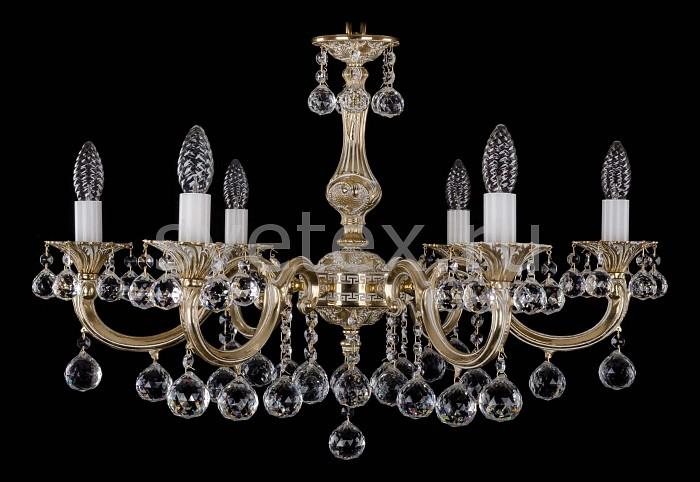 Фото Подвесная люстра Bohemia Ivele Crystal 1702 1702/6/A/GB/Balls