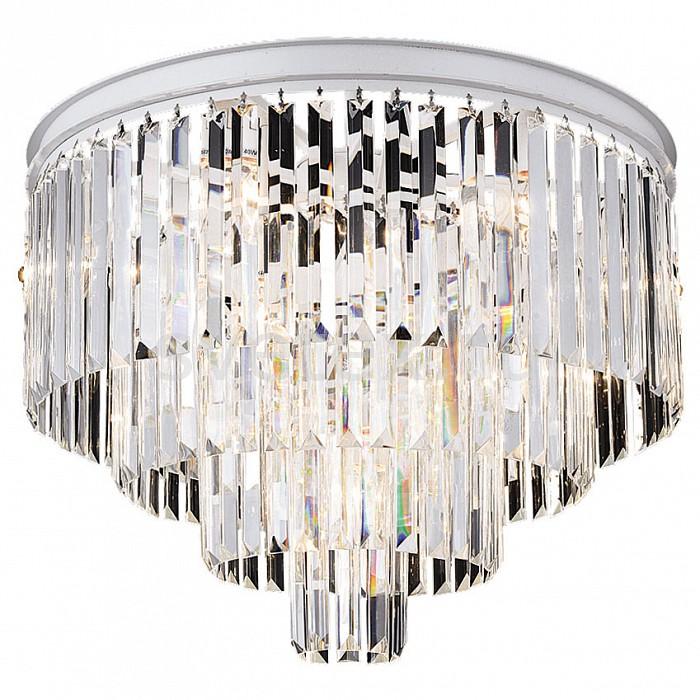 Потолочная люстра FavouriteБолее 6 ламп<br>Артикул - FV_1490-10U,Бренд - Favourite (Германия),Коллекция - Geschosse,Гарантия, месяцы - 24,Высота, мм - 490,Диаметр, мм - 600,Тип лампы - компактная люминесцентная [КЛЛ] ИЛИнакаливания ИЛИсветодиодная [LED],Общее кол-во ламп - 10,Напряжение питания лампы, В - 220,Максимальная мощность лампы, Вт - 40,Лампы в комплекте - отсутствуют,Цвет плафонов и подвесок - неокрашенный,Тип поверхности плафонов - прозрачный,Материал плафонов и подвесок - хрусталь,Цвет арматуры - белый,Тип поверхности арматуры - матовый,Материал арматуры - металл,Возможность подлючения диммера - можно, если установить лампу накаливания,Тип цоколя лампы - E14,Класс электробезопасности - I,Общая мощность, Вт - 400,Степень пылевлагозащиты, IP - 20,Диапазон рабочих температур - комнатная температура,Дополнительные параметры - способ крепления светильника к потолку – на монтажной пластине<br>