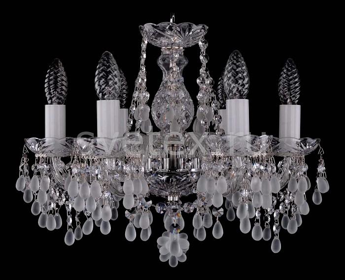 Фото Подвесная люстра Bohemia Ivele Crystal 1410 1410/6/141/Ni/0300