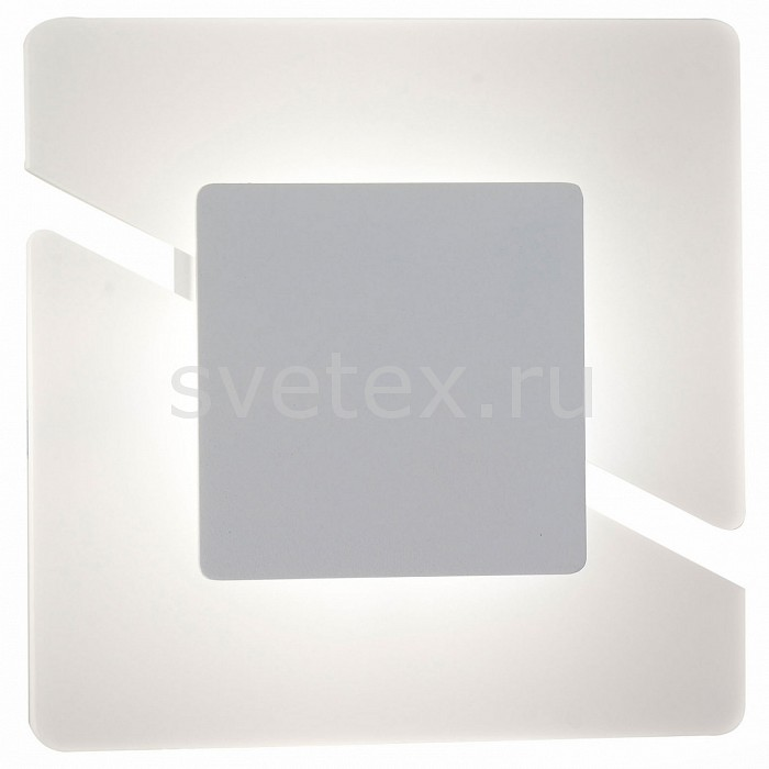 Накладной светильник ST-LuceКвадратные<br>Артикул - SL594.051.01,Бренд - ST-Luce (Китай),Коллекция - SL594,Гарантия, месяцы - 24,Время изготовления, дней - 1,Длина, мм - 220,Ширина, мм - 220,Выступ, мм - 48,Размер упаковки, мм - 540х280х460,Тип лампы - светодиодная [LED],Общее кол-во ламп - 1,Напряжение питания лампы, В - 220,Максимальная мощность лампы, Вт - 5.4,Цвет лампы - белый,Лампы в комплекте - светодиодная [LED],Цвет плафонов и подвесок - белый,Тип поверхности плафонов - матовый,Материал плафонов и подвесок - акрил,Цвет арматуры - белый,Тип поверхности арматуры - матовый,Материал арматуры - металл,Количество плафонов - 1,Возможность подлючения диммера - нельзя,Цветовая температура, K - 4000 K,Световой поток, лм - 560,Экономичнее лампы накаливания - в 10 раз,Светоотдача, лм/Вт - 104,Класс электробезопасности - I,Степень пылевлагозащиты, IP - 20,Диапазон рабочих температур - комнатная температура,Дополнительные параметры - светильник предназначен для использования со скрытой проводкой<br>
