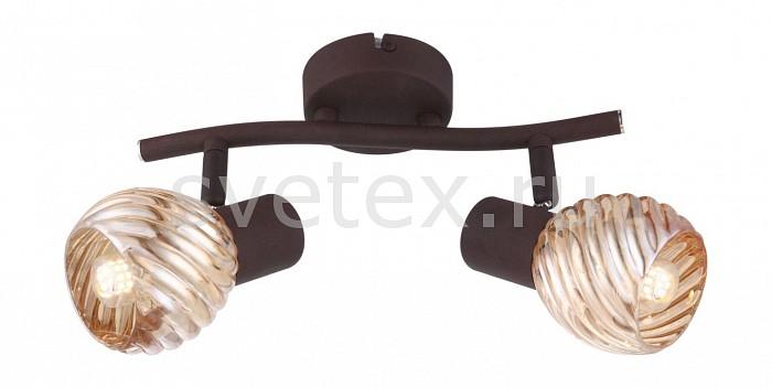 Спот GloboСпоты<br>Артикул - GB_54644-2O,Бренд - Globo (Австрия),Коллекция - 54644,Гарантия, месяцы - 24,Длина, мм - 250,Ширина, мм - 180,Выступ, мм - 180,Тип лампы - компактная люминесцентная [КЛЛ] ИЛИнакаливания ИЛИсветодиодная [LED],Общее кол-во ламп - 2,Напряжение питания лампы, В - 220,Максимальная мощность лампы, Вт - 40,Лампы в комплекте - отсутствуют,Цвет плафонов и подвесок - тонированный,Тип поверхности плафонов - прозрачный, рельефный,Материал плафонов и подвесок - стекло,Цвет арматуры - кофейный,Тип поверхности арматуры - матовый,Материал арматуры - металл,Количество плафонов - 2,Возможность подлючения диммера - можно, если установить лампу накаливания,Тип цоколя лампы - E14,Класс электробезопасности - I,Общая мощность, Вт - 80,Степень пылевлагозащиты, IP - 20,Диапазон рабочих температур - комнатная температура,Дополнительные параметры - способ крепления светильника к потолку и стене - на монтажной пластине, поворотный светильник<br>