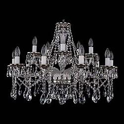 Подвесная люстра Bohemia Ivele CrystalБолее 6 ламп<br>Артикул - BI_1613_10_5_300_NB,Бренд - Bohemia Ivele Crystal (Чехия),Коллекция - 1613,Гарантия, месяцы - 12,Высота, мм - 580,Диаметр, мм - 820,Размер упаковки, мм - 710x710x350,Тип лампы - компактная люминесцентная [КЛЛ] ИЛИнакаливания ИЛИсветодиодная [LED],Общее кол-во ламп - 15,Напряжение питания лампы, В - 220,Максимальная мощность лампы, Вт - 40,Лампы в комплекте - отсутствуют,Цвет плафонов и подвесок - неокрашенный,Тип поверхности плафонов - прозрачный,Материал плафонов и подвесок - хрусталь,Цвет арматуры - неокрашенный, никель черненый,Тип поверхности арматуры - глянцевый, прозрачный,Материал арматуры - металл, стекло,Возможность подлючения диммера - можно, если установить лампу накаливания,Форма и тип колбы - свеча ИЛИ свеча на ветру,Тип цоколя лампы - E14,Класс электробезопасности - I,Общая мощность, Вт - 600,Степень пылевлагозащиты, IP - 20,Диапазон рабочих температур - комнатная температура,Дополнительные параметры - способ крепления светильника к потолку – на крюке<br>