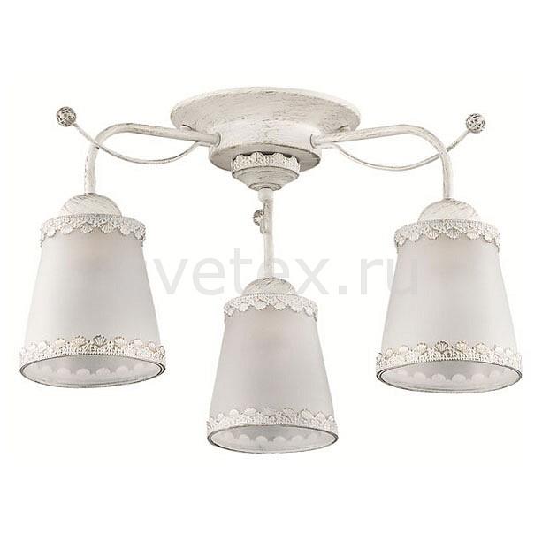 Потолочная люстра LumionЛюстры<br>Артикул - LMN_3267_3C,Бренд - Lumion (Италия),Коллекция - Abbi,Гарантия, месяцы - 24,Высота, мм - 260,Диаметр, мм - 520,Размер упаковки, мм - 230x470x190,Тип лампы - компактная люминесцентная [КЛЛ] ИЛИнакаливания ИЛИсветодиодная [LED],Общее кол-во ламп - 3,Напряжение питания лампы, В - 220,Максимальная мощность лампы, Вт - 60,Лампы в комплекте - отсутствуют,Цвет плафонов и подвесок - белый с каймой,Тип поверхности плафонов - матовый,Материал плафонов и подвесок - металл, стекло,Цвет арматуры - белый с золотой патиной,Тип поверхности арматуры - матовый,Материал арматуры - металл,Количество плафонов - 3,Возможность подлючения диммера - можно, если установить лампу накаливания,Тип цоколя лампы - E27,Класс электробезопасности - I,Общая мощность, Вт - 180,Степень пылевлагозащиты, IP - 20,Диапазон рабочих температур - комнатная температура,Дополнительные параметры - способ крепления к потолку - на монтажной пластине<br>