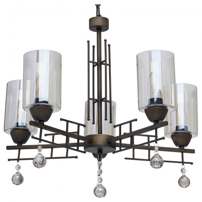Подвесная люстра De MarktЛюстры<br>Артикул - MW_249017705,Бренд - De Markt (Германия),Коллекция - Замок,Гарантия, месяцы - 24,Высота, мм - 910-1380,Диаметр, мм - 550,Тип лампы - компактная люминесцентная [КЛЛ] ИЛИнакаливания ИЛИсветодиодная [LED],Общее кол-во ламп - 5,Напряжение питания лампы, В - 220,Максимальная мощность лампы, Вт - 60,Лампы в комплекте - отсутствуют,Цвет плафонов и подвесок - шампань,Тип поверхности плафонов - прозрачный,Материал плафонов и подвесок - стекло, хрусталь,Цвет арматуры - бронза античная,Тип поверхности арматуры - матовый,Материал арматуры - металл,Количество плафонов - 5,Возможность подлючения диммера - можно, если установить лампу накаливания,Тип цоколя лампы - E27,Класс электробезопасности - I,Общая мощность, Вт - 300,Степень пылевлагозащиты, IP - 20,Диапазон рабочих температур - комнатная температура,Дополнительные параметры - способ крепления светильника к потолку - на крюке, светильник регулируется по высоте<br>