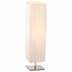 Настольная лампа GloboС абажуром<br>Артикул - GB_24661,Бренд - Globo (Австрия),Коллекция - Bailey,Гарантия, месяцы - 24,Время изготовления, дней - 1,Высота, мм - 580,Размер упаковки, мм - 535x150x150,Тип лампы - компактная люминесцентная [КЛЛ] ИЛИнакаливания ИЛИсветодиодная [LED],Общее кол-во ламп - 1,Напряжение питания лампы, В - 220,Максимальная мощность лампы, Вт - 40,Лампы в комплекте - отсутствуют,Цвет плафонов и подвесок - белый,Тип поверхности плафонов - матовый,Материал плафонов и подвесок - текстиль,Цвет арматуры - хром,Тип поверхности арматуры - матовый,Материал арматуры - металл,Тип цоколя лампы - E27,Класс электробезопасности - II,Степень пылевлагозащиты, IP - 20,Диапазон рабочих температур - комнатная температура<br>