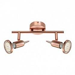 Спот GloboС 2 лампами<br>Артикул - GB_54383-2,Бренд - Globo (Австрия),Коллекция - Anne,Гарантия, месяцы - 24,Тип лампы - светодиодная [LED],Общее кол-во ламп - 2,Напряжение питания лампы, В - 220,Максимальная мощность лампы, Вт - 3,Лампы в комплекте - светодиодные [LED] GU10,Цвет арматуры - медь,Тип поверхности арматуры - матовый,Материал арматуры - металл,Возможность подлючения диммера - нельзя,Тип цоколя лампы - GU10,Класс электробезопасности - I,Общая мощность, Вт - 6,Степень пылевлагозащиты, IP - 20,Диапазон рабочих температур - комнатная температура,Дополнительные параметры - способ крепления светильника к стене и потолку - на монтажной пластине, поворотный светильник<br>