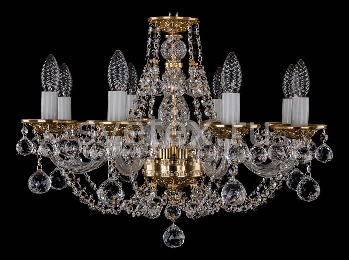 Фото Подвесная люстра Bohemia Ivele Crystal 1606 1606/8/195/G/Balls