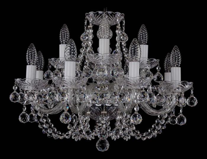 Фото Подвесная люстра Bohemia Ivele Crystal 1406 1406/8_4/195/Ni/Balls