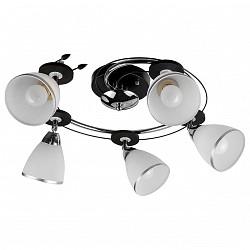 Спот TopLightБолее 4 ламп<br>Артикул - TPL_TL2730X-05BC,Бренд - TopLight (Россия),Коллекция - Sara,Гарантия, месяцы - 24,Диаметр, мм - 480,Тип лампы - компактная люминесцентная [КЛЛ] ИЛИнакаливания ИЛИсветодиодная [LED],Общее кол-во ламп - 5,Напряжение питания лампы, В - 220,Максимальная мощность лампы, Вт - 40,Лампы в комплекте - отсутствуют,Цвет плафонов и подвесок - белый с хромированной каймой,Тип поверхности плафонов - матовый,Материал плафонов и подвесок - стекло,Цвет арматуры - хром, черный,Тип поверхности арматуры - глянцевый, матовый,Материал арматуры - металл,Возможность подлючения диммера - можно, если установить лампу накаливания,Тип цоколя лампы - E14,Класс электробезопасности - I,Общая мощность, Вт - 200,Степень пылевлагозащиты, IP - 20,Диапазон рабочих температур - комнатная температура,Дополнительные параметры - поворотный светильник<br>