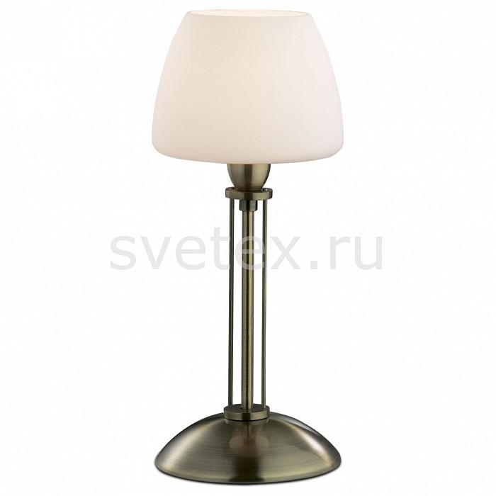 Настольная лампа Odeon LightСтеклянный плафон<br>Артикул - OD_2057_1T,Бренд - Odeon Light (Италия),Коллекция - Vesto,Гарантия, месяцы - 24,Время изготовления, дней - 1,Высота, мм - 340,Диаметр, мм - 144,Тип лампы - компактная люминесцентная [КЛЛ] ИЛИнакаливания ИЛИсветодиодная [LED],Общее кол-во ламп - 1,Напряжение питания лампы, В - 220,Максимальная мощность лампы, Вт - 60,Лампы в комплекте - отсутствуют,Цвет плафонов и подвесок - белый,Тип поверхности плафонов - матовый,Материал плафонов и подвесок - стекло,Цвет арматуры - бронза,Тип поверхности арматуры - глянцевый,Материал арматуры - металл,Количество плафонов - 1,Наличие выключателя, диммера или пульта ДУ - выключатель,Компоненты, входящие в комплект - провод электропитания с вилкой без заземления,Тип цоколя лампы - E14,Класс электробезопасности - II,Степень пылевлагозащиты, IP - 20,Диапазон рабочих температур - комнатная температура<br>