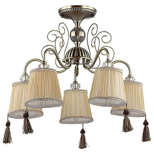 Люстра на штанге Odeon LightСветильники<br>Артикул - OD_3214_5C,Бренд - Odeon Light (Италия),Коллекция - Sarita,Гарантия, месяцы - 24,Высота, мм - 490,Диаметр, мм - 565,Тип лампы - компактная люминесцентная [КЛЛ] ИЛИнакаливания ИЛИсветодиодная [LED],Общее кол-во ламп - 5,Напряжение питания лампы, В - 220,Максимальная мощность лампы, Вт - 40,Лампы в комплекте - отсутствуют,Цвет плафонов и подвесок - бежевый с рельефной каймой, коричневый,Тип поверхности плафонов - матовый,Материал плафонов и подвесок - текстиль,Цвет арматуры - бронза, неокрашенный,Тип поверхности арматуры - матовый, прозрачный,Материал арматуры - металл, стекло,Количество плафонов - 5,Возможность подлючения диммера - можно, если установить лампу накаливания,Тип цоколя лампы - E14,Класс электробезопасности - I,Общая мощность, Вт - 200,Степень пылевлагозащиты, IP - 20,Диапазон рабочих температур - комнатная температура,Дополнительные параметры - способ крепления светильника к потолку - на монтажной пластине<br>