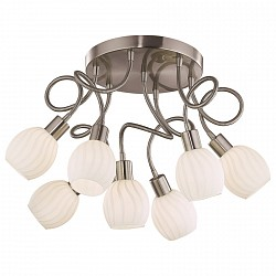 Потолочная люстра Odeon LightБолее 6 ламп<br>Артикул - OD_2208_7C,Бренд - Odeon Light (Италия),Коллекция - Diana,Гарантия, месяцы - 24,Высота, мм - 500,Диаметр, мм - 600,Тип лампы - галогеновая,Общее кол-во ламп - 7,Напряжение питания лампы, В - 220,Максимальная мощность лампы, Вт - 40,Лампы в комплекте - галогеновые G9,Цвет плафонов и подвесок - белый с рисунком,Тип поверхности плафонов - матовый,Материал плафонов и подвесок - стекло,Цвет арматуры - никель,Тип поверхности арматуры - матовый,Материал арматуры - металл,Количество плафонов - 7,Возможность подлючения диммера - можно,Тип цоколя лампы - G9,Класс электробезопасности - I,Общая мощность, Вт - 280,Степень пылевлагозащиты, IP - 20,Диапазон рабочих температур - комнатная температура<br>