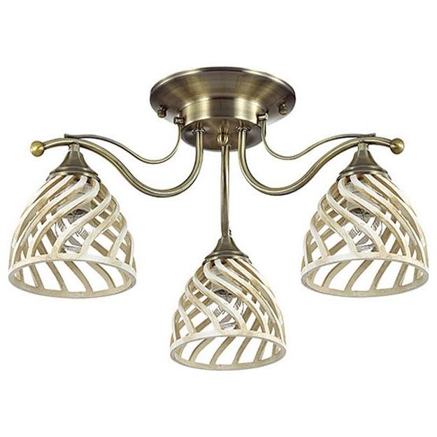 Потолочная люстра Odeon LightСветильники<br>Артикул - OD_3199_3C,Бренд - Odeon Light (Италия),Коллекция - Aretta,Гарантия, месяцы - 24,Высота, мм - 250,Диаметр, мм - 536,Тип лампы - компактная люминесцентная [КЛЛ] ИЛИнакаливания ИЛИсветодиодная [LED],Общее кол-во ламп - 3,Напряжение питания лампы, В - 220,Максимальная мощность лампы, Вт - 60,Лампы в комплекте - отсутствуют,Цвет плафонов и подвесок - белый,Тип поверхности плафонов - матовый,Материал плафонов и подвесок - полиэфирная смола,Цвет арматуры - бронза,Тип поверхности арматуры - матовый,Материал арматуры - металл,Количество плафонов - 3,Возможность подлючения диммера - можно, если установить лампу накаливания,Тип цоколя лампы - E27,Класс электробезопасности - I,Общая мощность, Вт - 180,Степень пылевлагозащиты, IP - 20,Диапазон рабочих температур - комнатная температура,Дополнительные параметры - способ крепления светильника к потолку - на монтажной пластине<br>