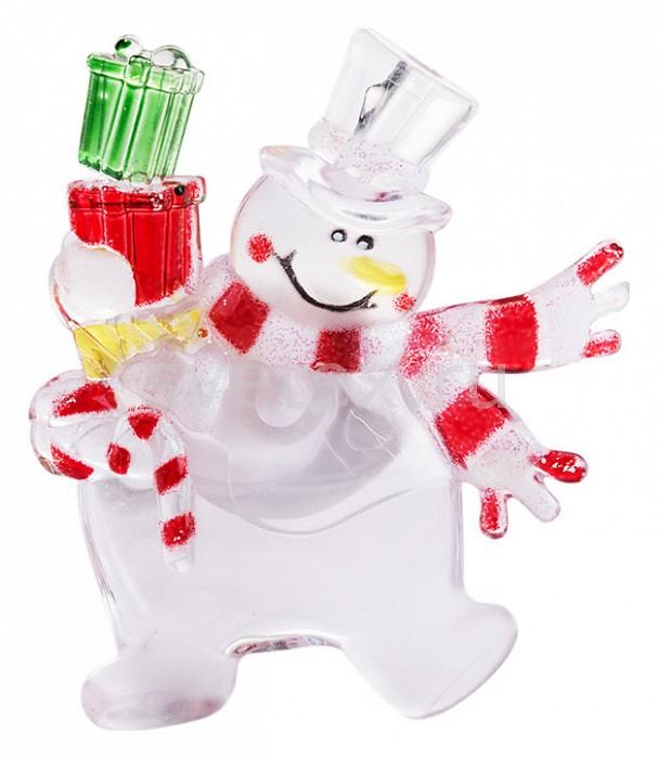 Фото Панно световое (9x7.5 см) Неон-Найт x 9 см x 7.5 см Снеговик с подарком 501-022